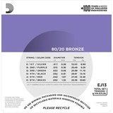 D'Addario EJ13 Bronze Acoustic Guitar Strings Custom Light 11-52_