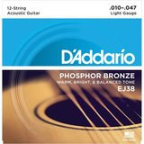 D'Addario EJ38 Hosphor Bronze Light 12-String 10-47_