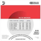 D'Addario EJ12 Bronze Acoustic Guitar Strings Medium 13-56_