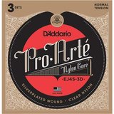 D'Addario EJ45-3D Normal Tension Pro Arte Classical Guitar 3-Pack_