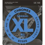 D'Addario ECG25 Chromes Flat Wound Light 12-52_