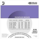 D'Addario EJ26 Phosphor Bronze Custom Light 11-52_