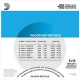 D'Addario EJ16 Phosphor Bronze Light 12-53_