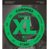 D'Addario ECB80 Chromes Bass Super Light 40-95_