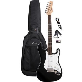 Morgan Guitars ST250 Black Guitar Pack