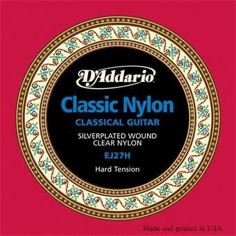 D'Addario EJ27H Hard Tension Student Classical Guitar Strings