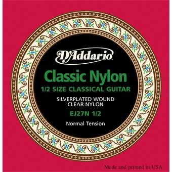 D'Addario EJ27N 1/2 Normal Tension Student Classical Guitar