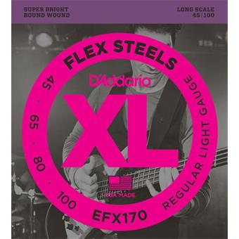 D'Addario EFX170 FlexSteels Bass Light Long Scale 45-100