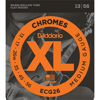 D'Addario ECG26 Chromes Flat Wound Medium