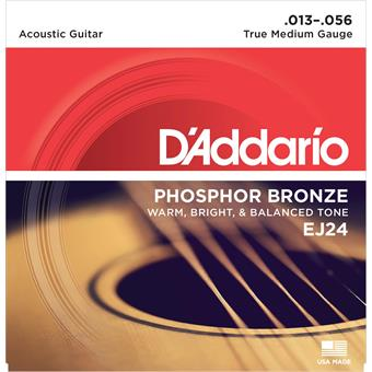 D'Addario EJ24 Phosphor Bronze True Medium 13-56