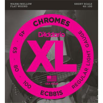 D'Addario ECB81S Chromes Bass Regular Light 45-100