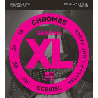 D'Addario ECB81SL Chromes Bass Regular Light 45-10