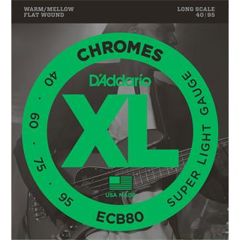 D'Addario ECB80 Chromes Bass Super Light 40-95