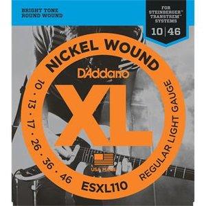 D'Addario ESXL110 Nickel Wound Regular Light Double BallEnd 10-46