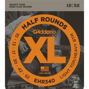 D'Addario EHR340 Half Rounds Light Top Heavy Bottom