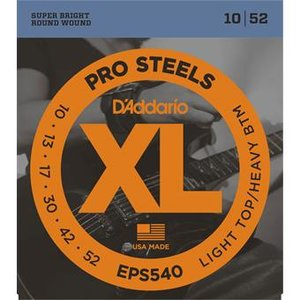 D'Addario EPS540 ProSteels Light Top Heavy Bottom 10-52