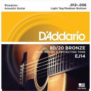 D'Addario EJ14 Bluegrass Light Top Medium Bottom 12-56