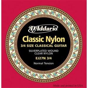D'Addario EJ27N 3/4 Normal Tension Student Classical Guitar