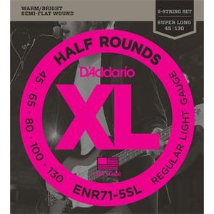 D'Addario ENR71-5SL Half Rounds 5-String Bass Reg Light 45-130