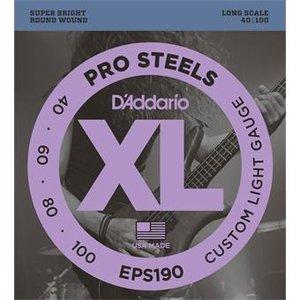 D'Addario EPS190 ProSteels Bass Custom Light 40-100