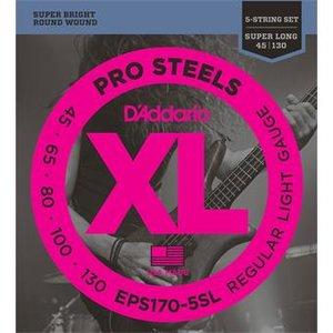 D'Addario EPS170-5SL ProSteels Bass 5-String Regular Light Super Long 45-130