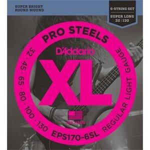 D'Addario EPS170-6SL ProSteels Bass Regular Light Super Long 30-130