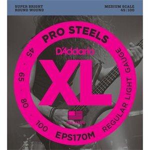 D'Addario EPS170M ProSteels Bass Regular Light 45-100