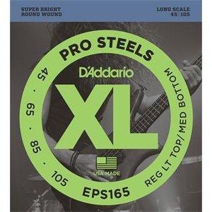 D'Addario EPS165 ProSteels Bass Reg Light Top Med Bottom 45-105