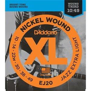 D'Addario EJ20 Nickel Wound JazzExtra Light 10-49