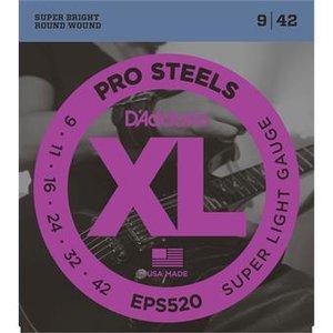 D'Addario EPS520 ProSteels Super Light 9-42