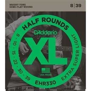 D'Addario EHR330 Half Rounds Extra-Super Light