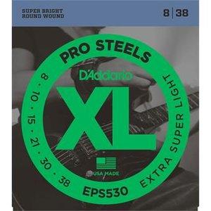 D'Addario EPS530 ProSteels Extra-Super Light 8-38