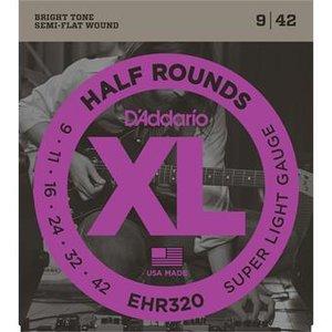 D'Addario EHR320 Half Rounds Super Light