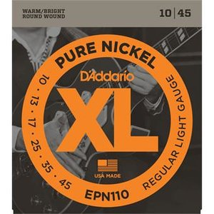 D'Addario EPN110 Pure Nickel Regular Light