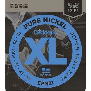 D'Addario EPN21 Pure Nickel Jazz Light