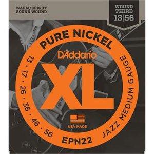 D'Addario EPN22 Pure Nickel Jazz Medium