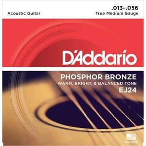 D'Addario EJ24 Phosphor Bronze True Medium 13-56