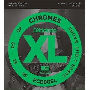 D'Addario ECB80SL Chromes Bass Super Light 40-95