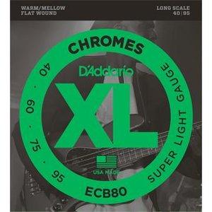 D'Addario ECB80 Chromes Bass Super Light 40-95