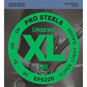 D'Addario EPS220 ProSteels Bass Super Light 40-95