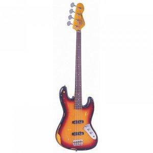 Vintage V74MRJP JP Tribute fretless Bass Distressed Sunburst