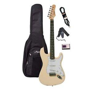 Morgan Guitars ST250 Vintage White Guitar Pack